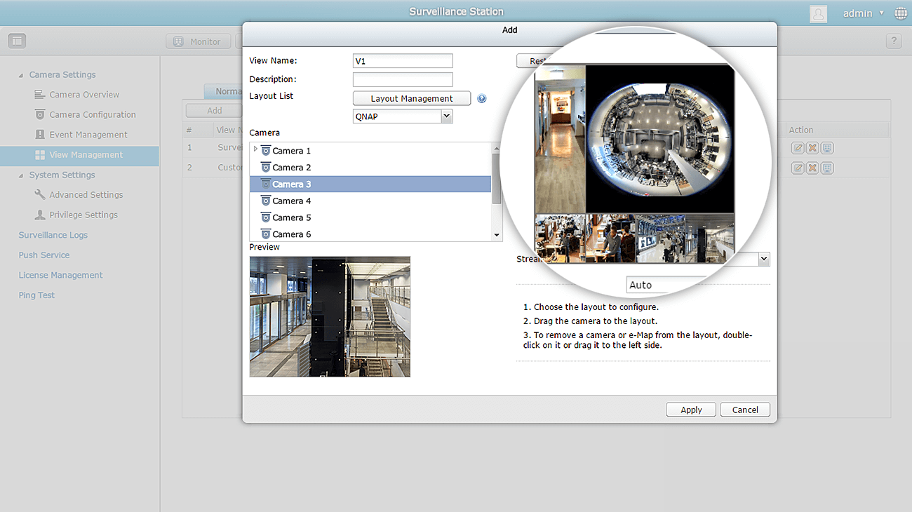 Customize Your View and Layout in Surveillance Settings