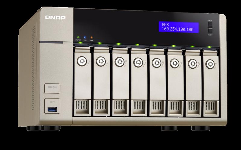 QNAP TVS-863+ TurboNAS QTS Windows 8