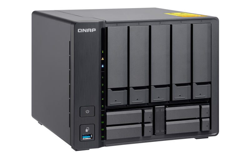 2GB RAM SFP+ Quad Core 1.7GHz +4 QNAP TS-932X-2G-US 5 2 x 10GbE Bay 64-bit NAS with Hardware Encryption 2 x 1GbE