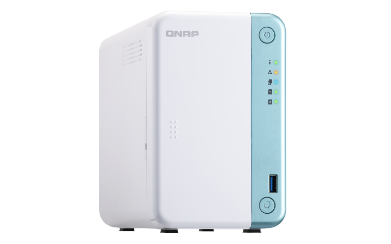 QNAP TS-251D-2G 2 Bay Home NAS with Intel Celeron J4005 CPU and One 1GbE Port