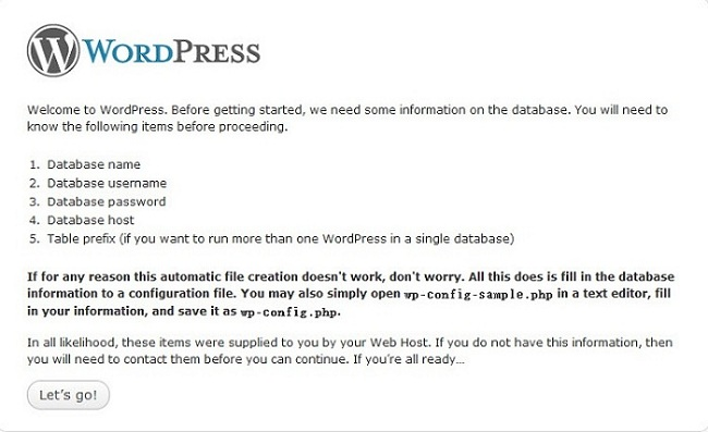 Gethering information for WordPress
