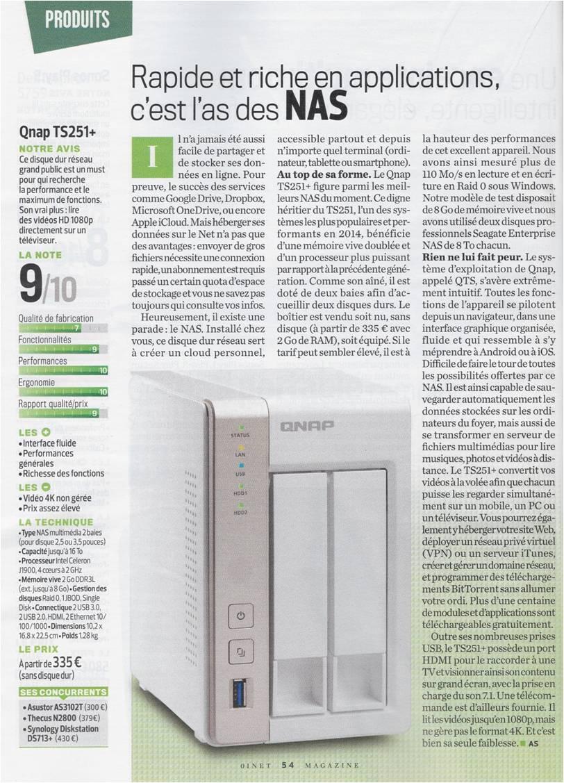 QNAP TS-251+-8G 2 Bay Diskless NAS Quad-core 2 0GHz CPU 8GB RAM