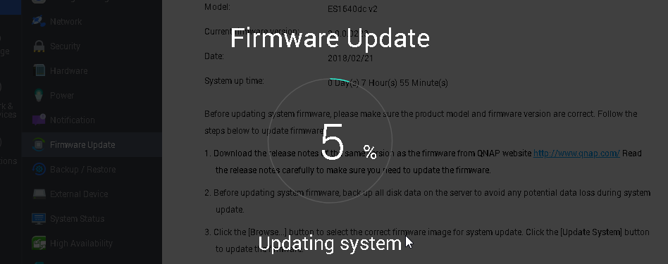 How long will the update process take to complete? Will