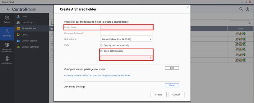 How to retain files and restore the default shared folder