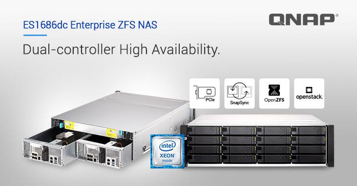 QNAP Releases New Dual-Controller ES1686dc Enterprise ZFS