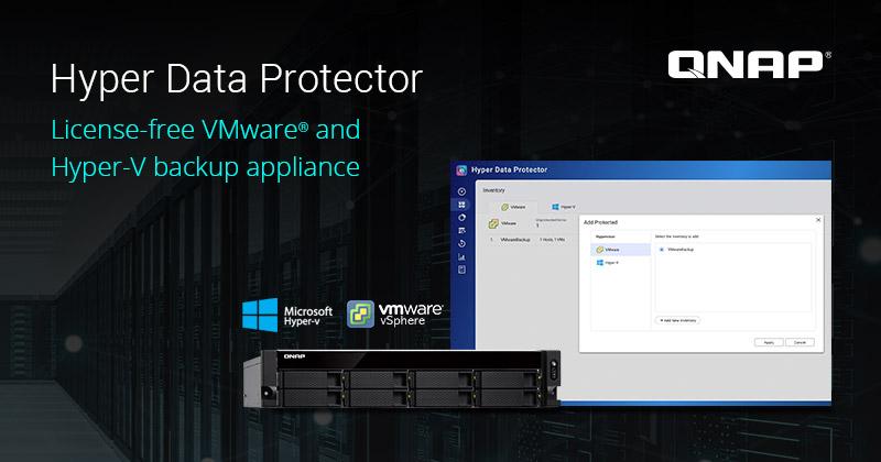 QNAP lanza oficialmente Hyper Data Protector, una solución de copia de seguridad de VMware® e Hyper-V con licencia gratuita