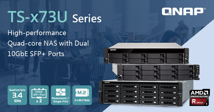 QNAP Launches TS-x73U Rackmount NAS with AMD R-Series Quad