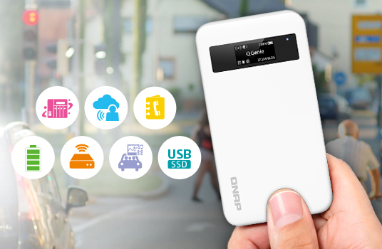 QNAP Launches 7-in-1 Mobile NAS QGenie for File Storage, Power Bank