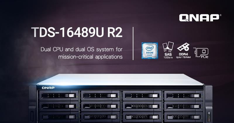 QNAP Launches New TDS-16489U R2 NAS Featuring Dual Intel