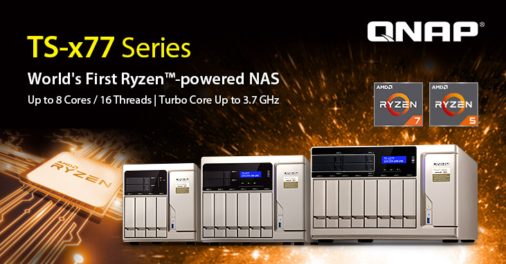 World's First Ryzen NAS: QNAP Ships TS-x77 Business NAS Powered by 8