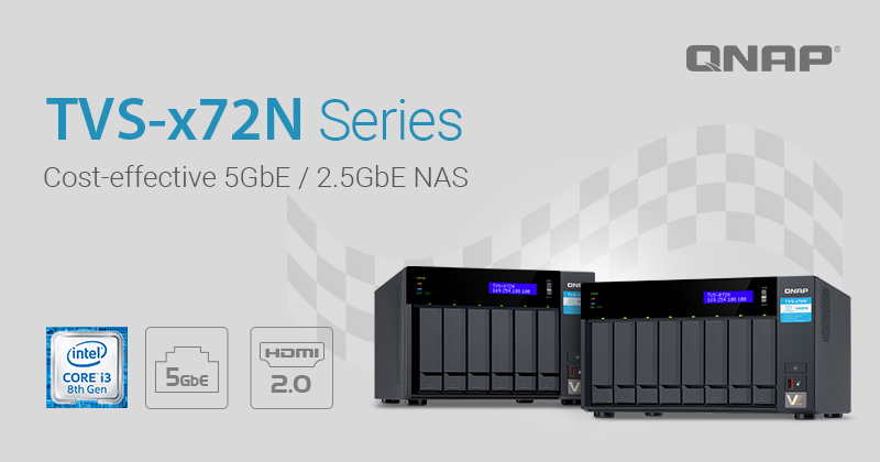 QNAP Launches Cost-Effective TVS-x72N Series NAS Featuring