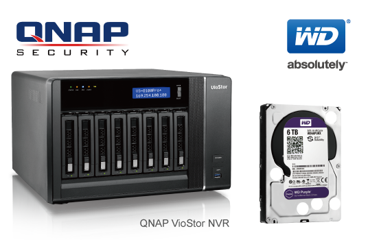 QNAP VioStor NVR Now Supports New WD Purple™ 3 5-inch 5/6 TB