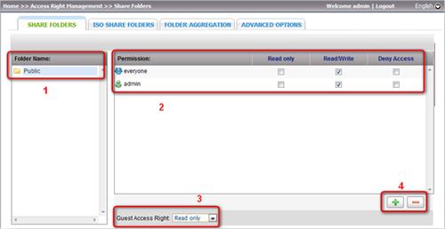 QNAP NAS Advanced Folder Permissions