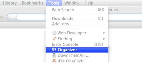 how to use firefox s3 organizer