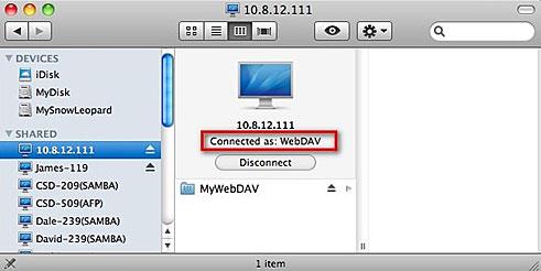 serveur webdav mac os x