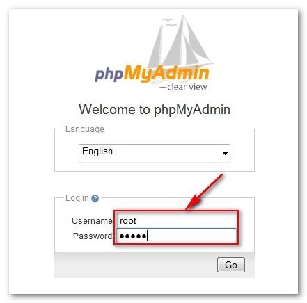 how to set phpmyadmin password