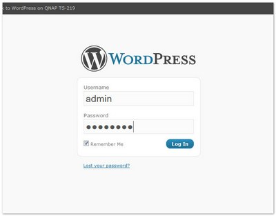 Log in to WordPress for the first time