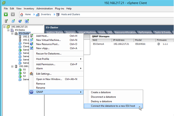 Step 4 All Existing Datas That Can Be Connected To The Selected Host Will Listed