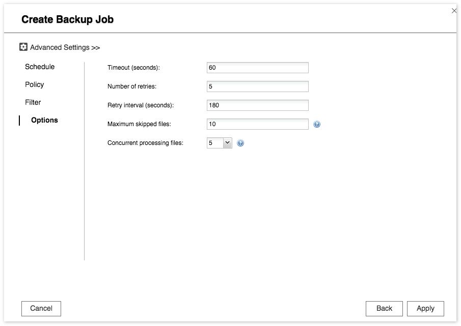 QNAP NAS Cloud Backup Sync -Applikationshinweis - QNAP
