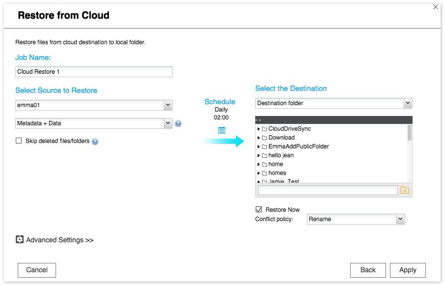 QNAP NAS Cloud Backup Sync Application Note | QNAP