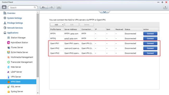 How to connect to OpenVPN server via  ovpn configuration