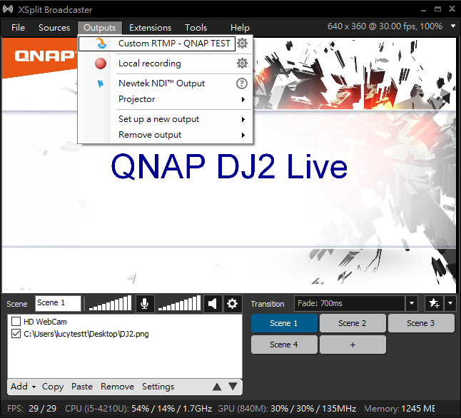 How to stream videos from my computer to DJ2 Live? | QNAP