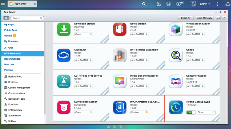 How to use Hybrid Backup Sync to backup/restore/synchronize your