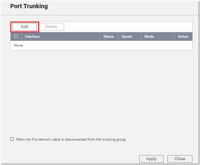 Set Port Trunking on your QNAP NAS to increase the bandwidth