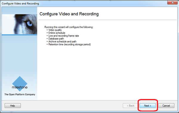 How to configure Milestone XProtect video management software (VMS