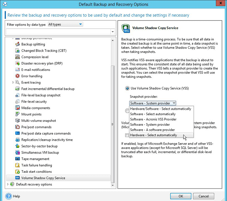 Create Microsoft Hyper-V Backups Using QNAP Snapshot Agent and VSS