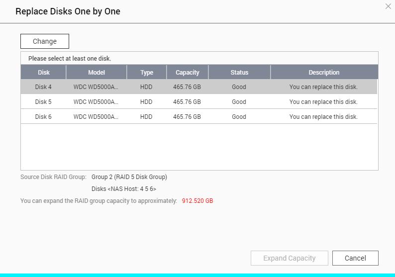 Online RAID Capacity Upgrade   QNAP