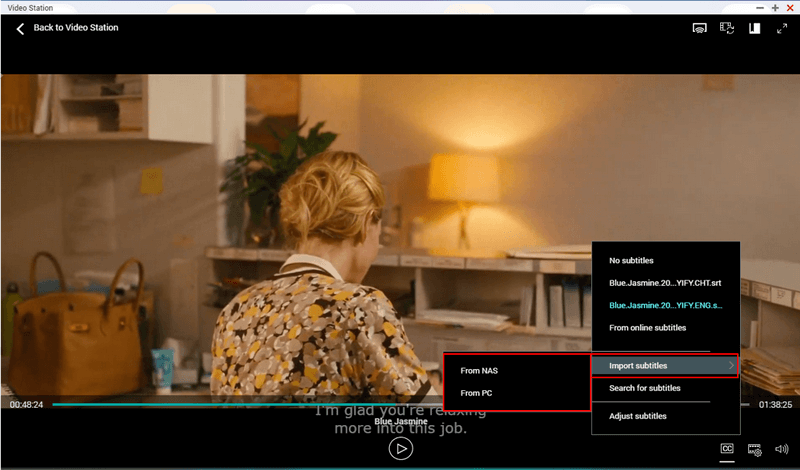 How to manage videos with video station qnap in click import subtitles and upload subtitle files from the nas or your local device ccuart Gallery