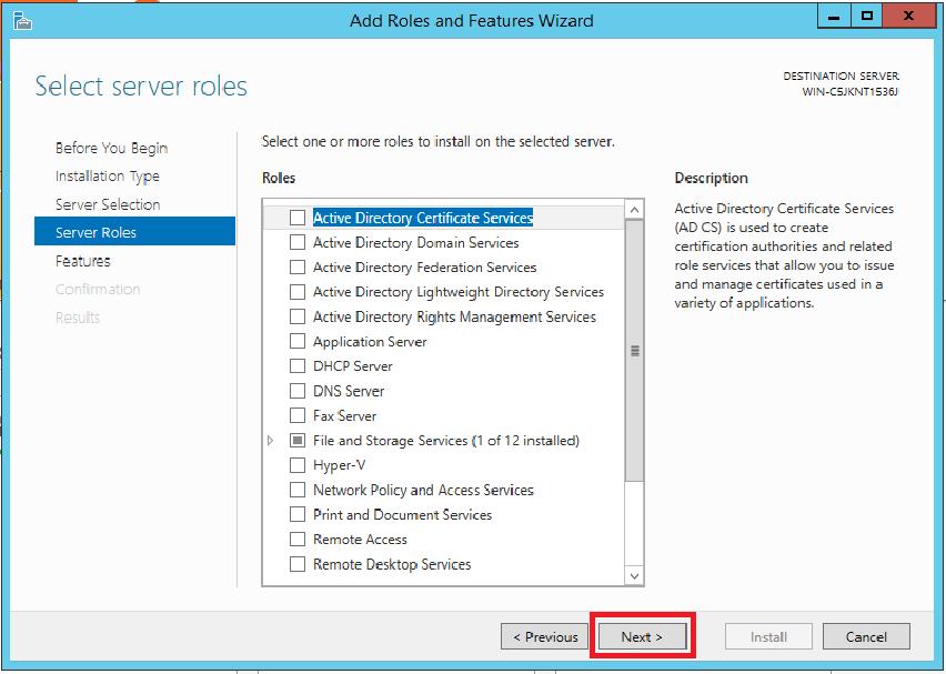 How to create a Windows Server 2012 R2 failover cluster