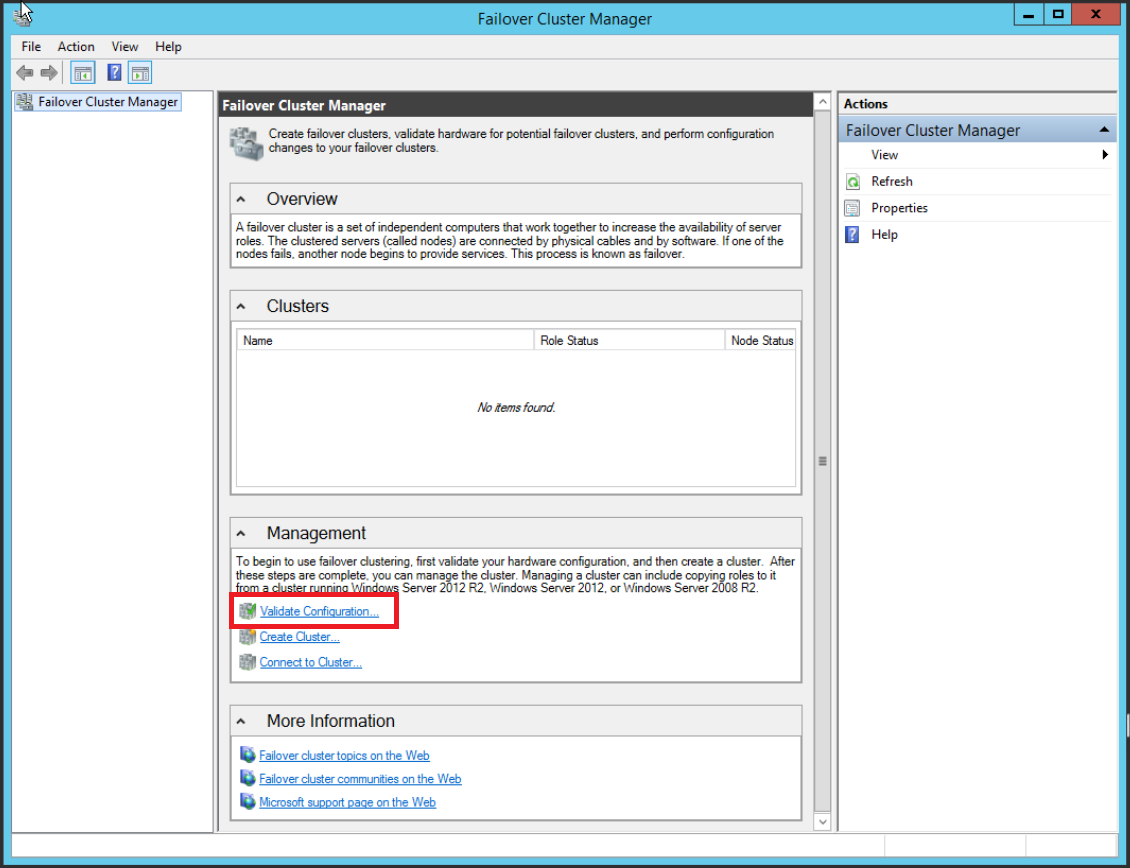How to create a Windows Server 2012 R2 failover cluster
