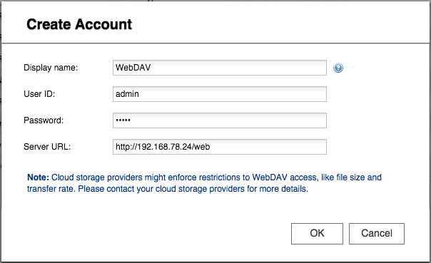 How to connect to WebDAV with Cloud Backup Sync? | QNAP (AU)