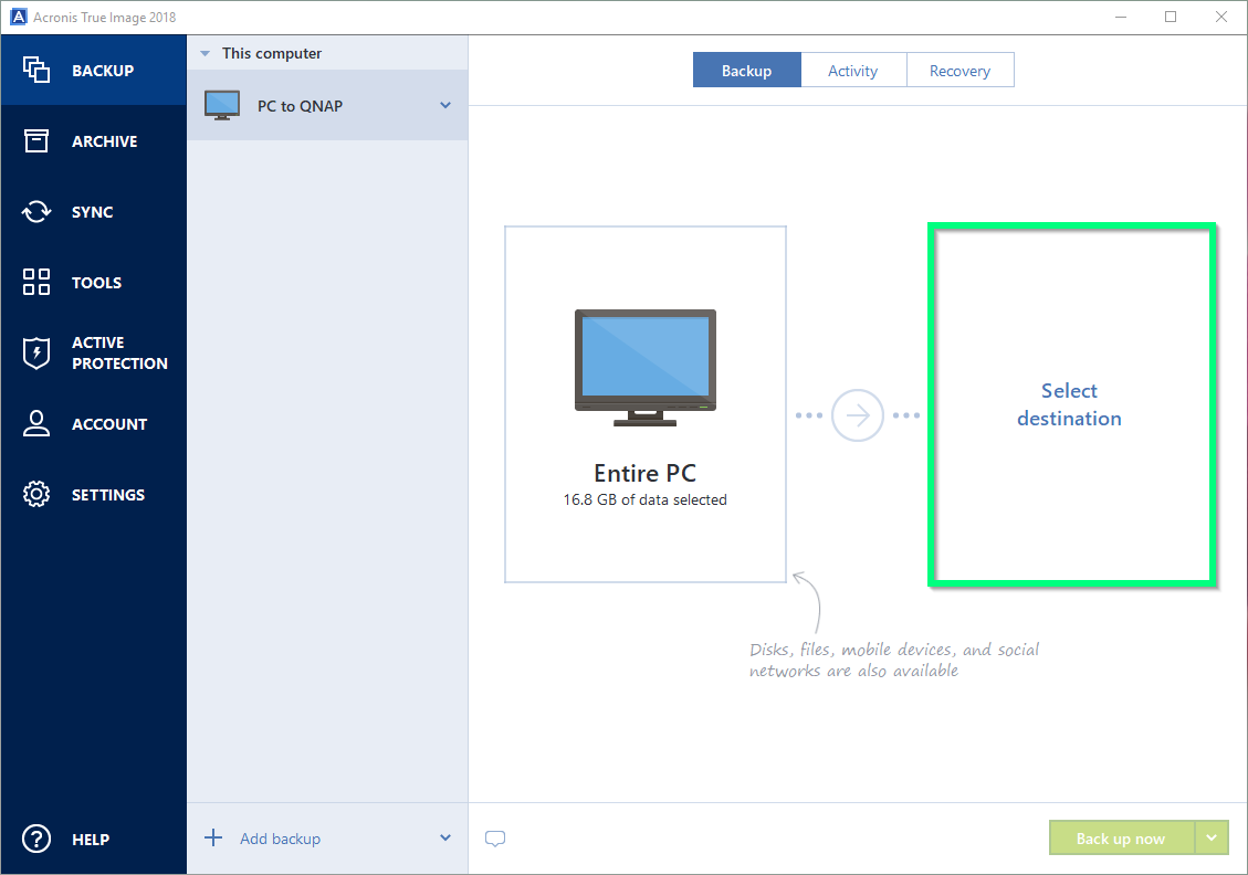 How to use Acronis® True Image to back up your devices to