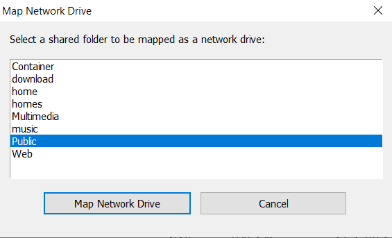 Mapping a Shared Folder to a Windows Computer | QNAP