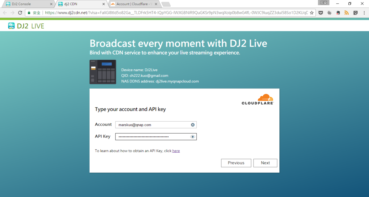 How can I enable CDN services on DJ2 Live? | QNAP (US)