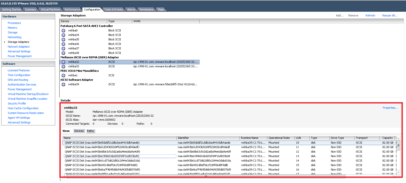 Using iSCSI Extensions For RDMA (iSER), to improve the performance ...