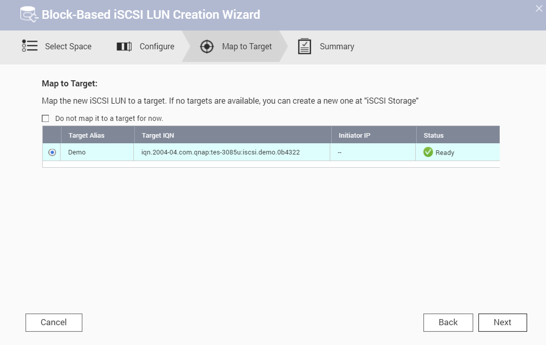 How to create and use the iSCSI target service on a QNAP NAS