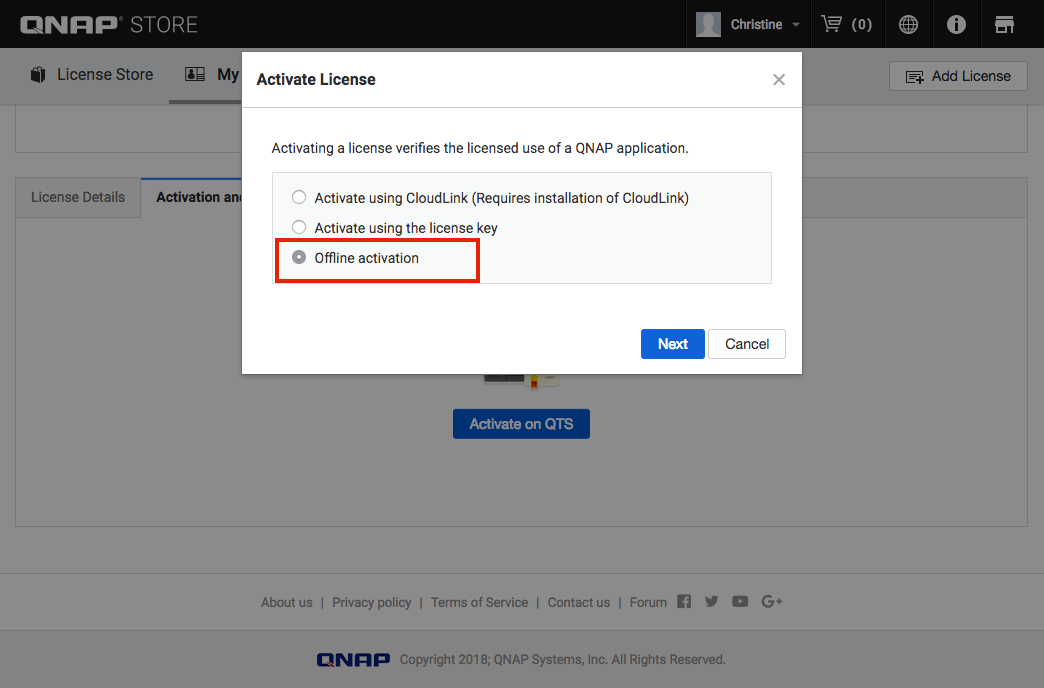 How to install license keys on a QNAP NAS - QNAP (UK)