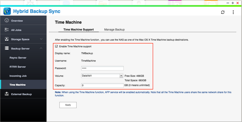 Using Time Machine to Back Up your Mac to a QNAP NAS via SMB