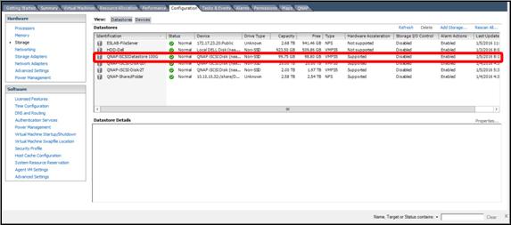 Set up a VMmare ESXi Datastore via iSCSI in QNAP Enterprise