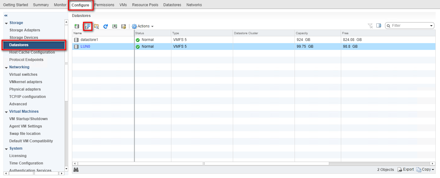 Set up a VMware ESXi Datastore via NFS in QNAP Enterprise