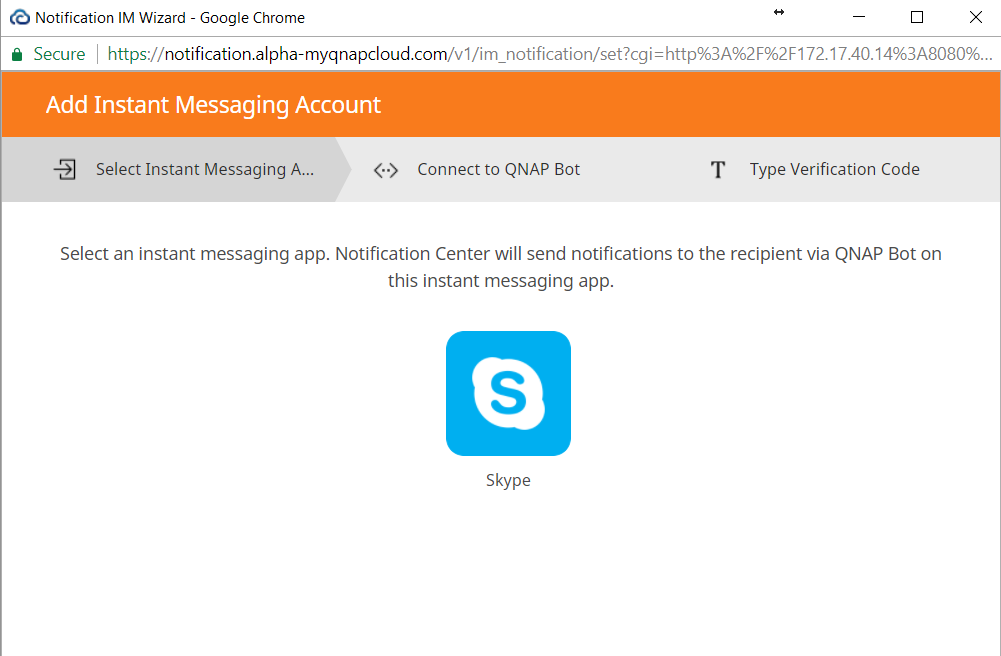 How to pair instant messengers with Notification Center - QNAP