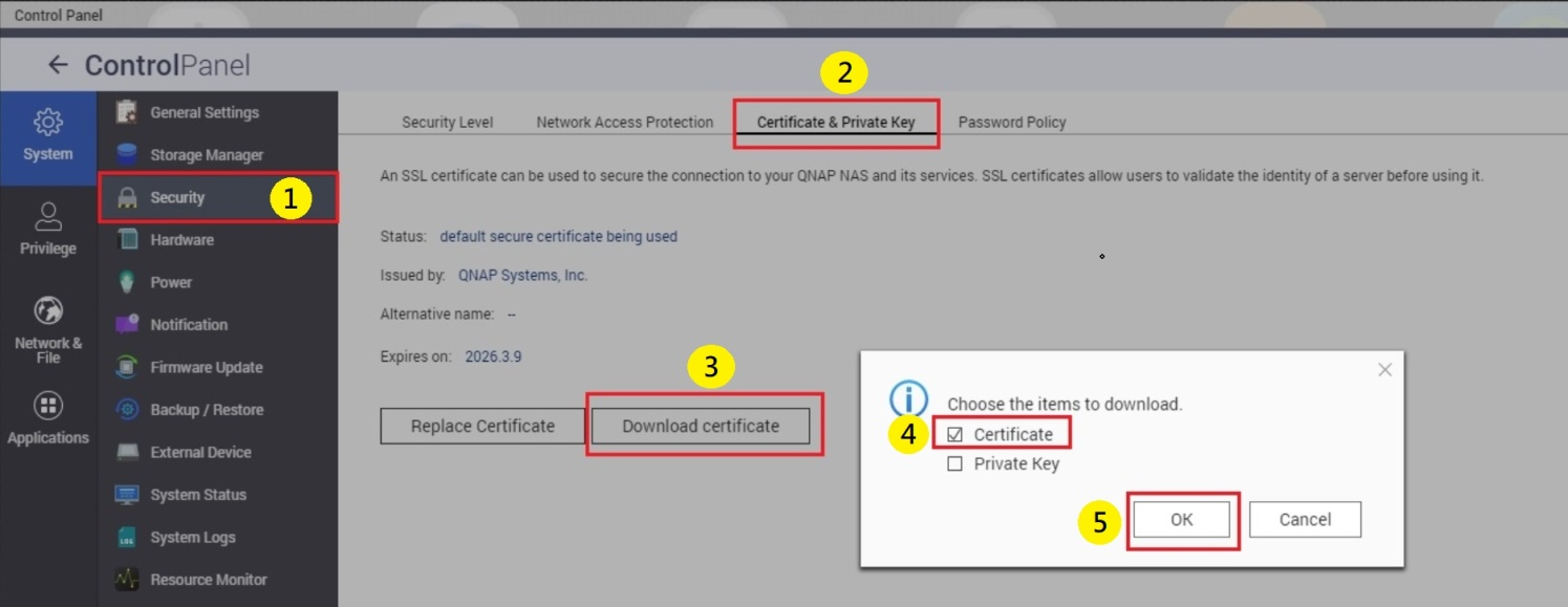 How to connect to qiot suite lite using https qnap select certificate and click ok 1betcityfo Image collections