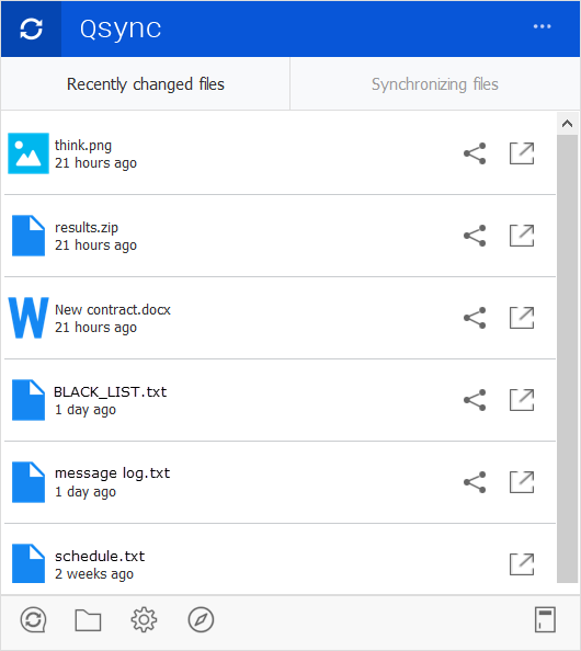 How do I use Qsync to synchronize files on my computers and