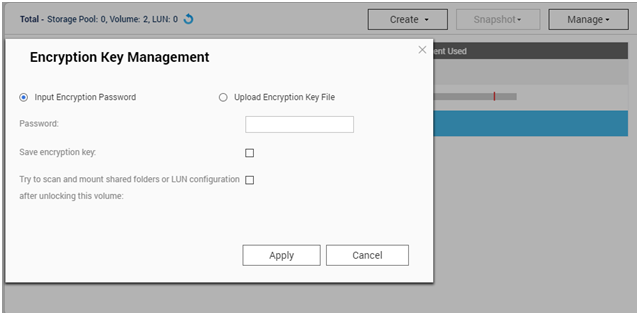 How do I encrypt the data on a QNAP NAS?   QNAP (US)
