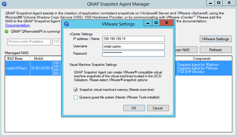 QNAP SMB Solution - Using QNAP Snapshot and Snapshot Agent to Create