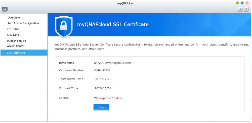 Wie erwirbt und verwendet man myQNAPcloud-SSL-Zertifikate? - QNAP